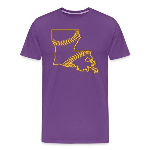 Louisiana Baseball, Gold - Men's Premium T-Shirt