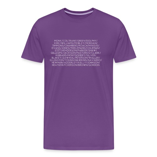 Jazz Greats 1 TShirt (White Lettering) - Men's Premium T-Shirt