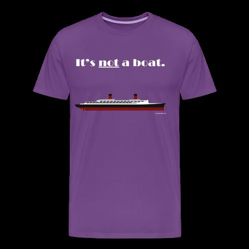 It's a ship, not a boat! (Ocean Liner Variant) - Men's Premium T-Shirt