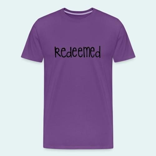 Handwritten REDEEMED Design - Men's Premium T-Shirt