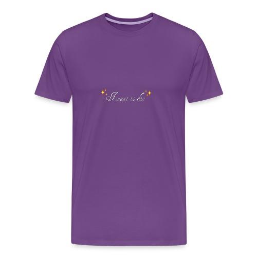 want2die - Men's Premium T-Shirt
