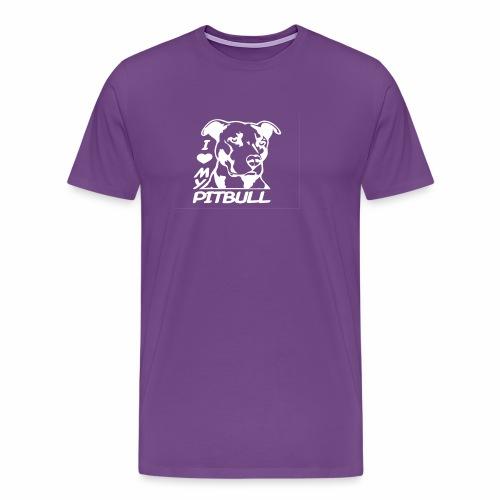 I love pit bulls - Men's Premium T-Shirt