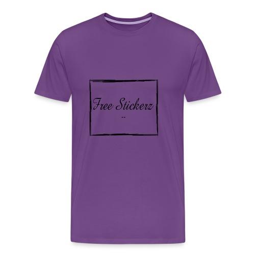 Free Stickerz 2017 Logo With Box - Men's Premium T-Shirt