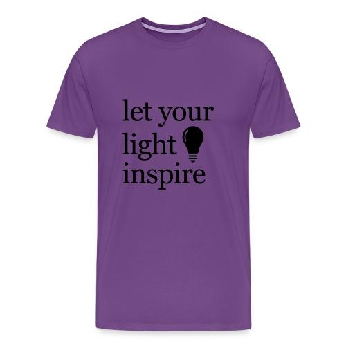 Let Your Light Inspire Sports Tank (black font) - Men's Premium T-Shirt