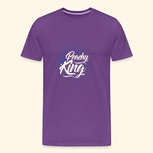 Blue Crown & White Peach King - Men's Premium T-Shirt
