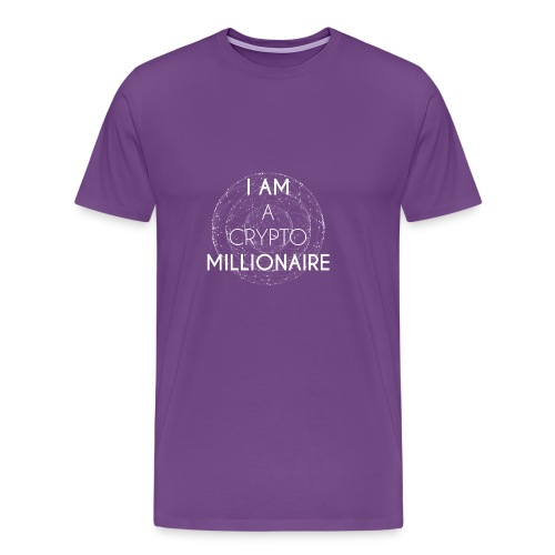 I AM A CRYPTO MILLIONAIRE white edition - Men's Premium T-Shirt