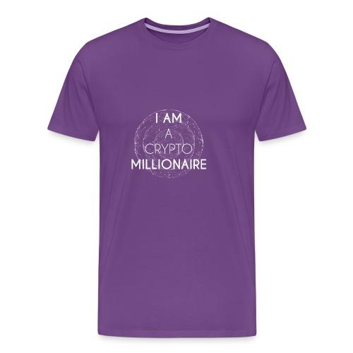 I AM A CRYPTO MILLIONAIRE white edition - Men's Premium T-Shirt