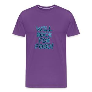 Will Rock4Food - Men's Premium T-Shirt