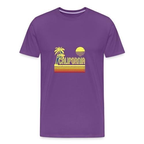 T Shirt Vintage California distressed look - Men's Premium T-Shirt