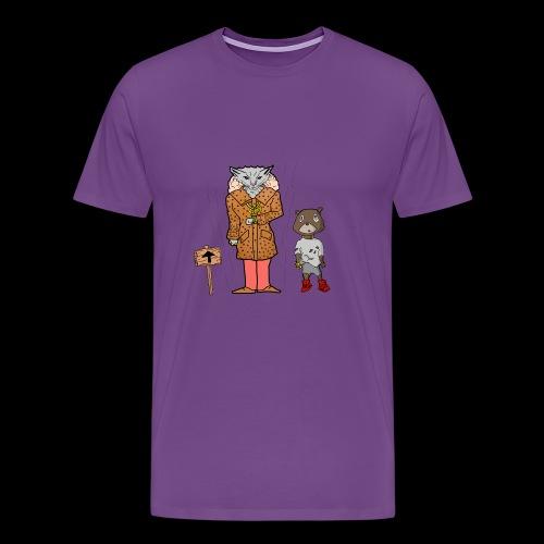 Tomkat Larry Only Pimps Tan Leather Ostrich Parka - Men's Premium T-Shirt