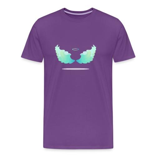 Angel wings with nimbus - Men's Premium T-Shirt