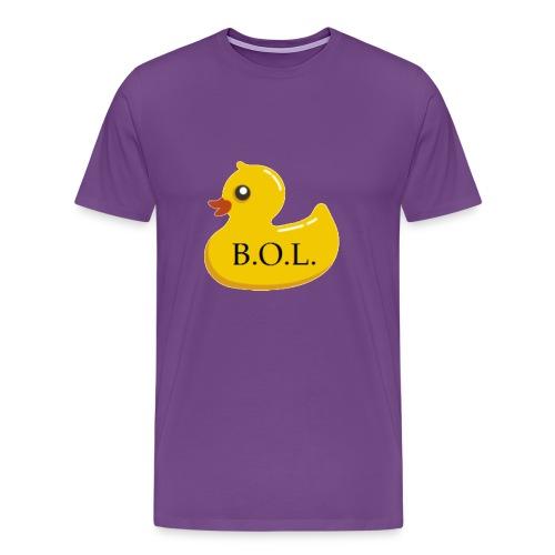 Official B.O.L. Ducky Duck Logo - Men's Premium T-Shirt