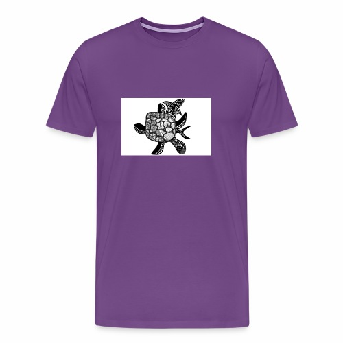 turtle and shark - Men's Premium T-Shirt
