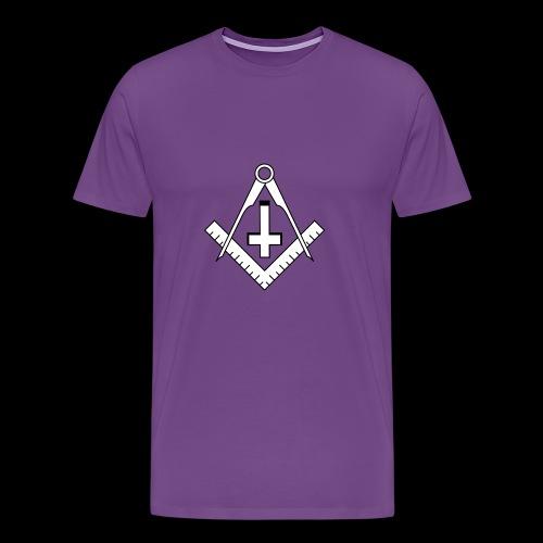 FreemasonCrossBlack - Men's Premium T-Shirt