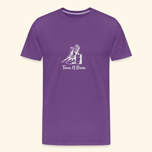 Turn N Burn Barrel Racer - Men's Premium T-Shirt