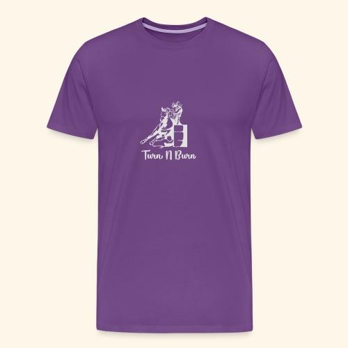 Turn N Burn Barrel Racer - Men's Premium T-Shirt
