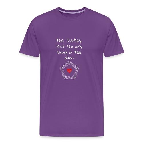 Baby Pregnancy Announcement and Thanksgiving Shir - Men's Premium T-Shirt