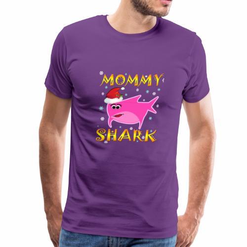 Mommy Shark Christmas Design Gift Idea - Men's Premium T-Shirt