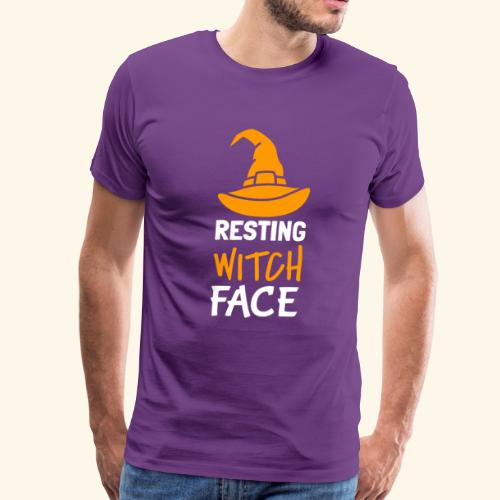 Resting Witch Face | Wicked Funny Halloween - Men's Premium T-Shirt