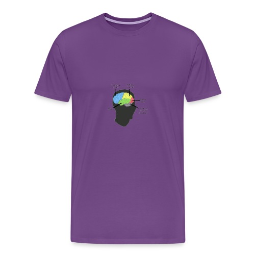 Corbin YT brain diagram - Men's Premium T-Shirt