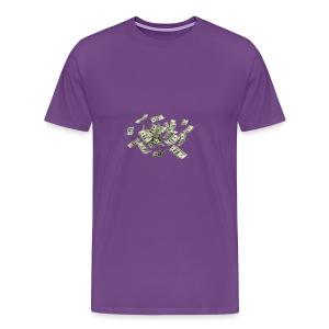 Money flying - Men's Premium T-Shirt