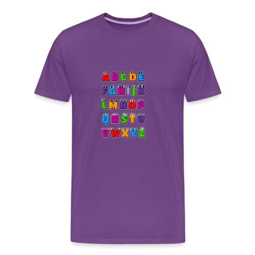 Kawaii Alphabet Letters ABC for children - Men's Premium T-Shirt