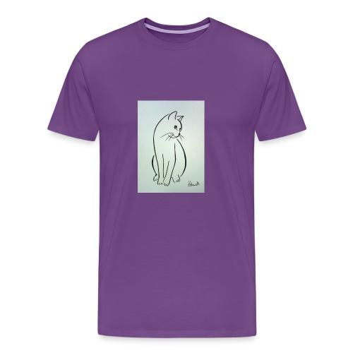 9ee232d2cb0d509fa6191e9fe868e6ec this a cat design - Men's Premium T-Shirt