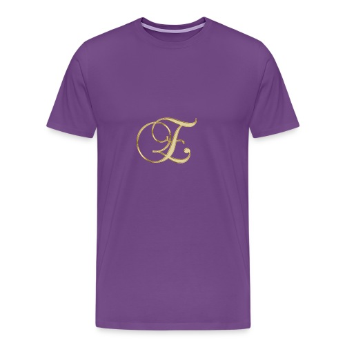 e golden logo - Men's Premium T-Shirt