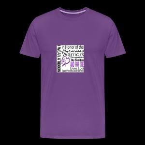 pan cancer aware - Men's Premium T-Shirt