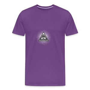 illuminati All Seeing Eye Food Humor Fun pyramid - Men's Premium T-Shirt