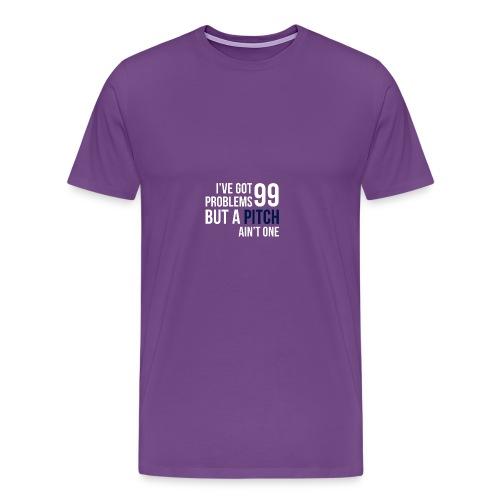 99 Pitches (White & Indigo) - Men's Premium T-Shirt