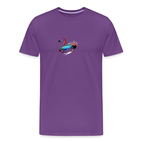 Car in motion - Men's Premium T-Shirt