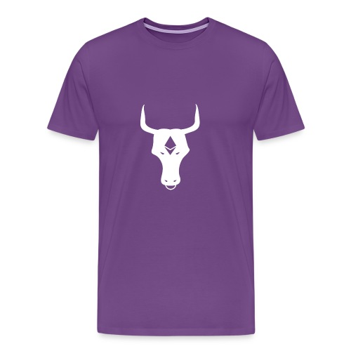 ether bull white - Men's Premium T-Shirt