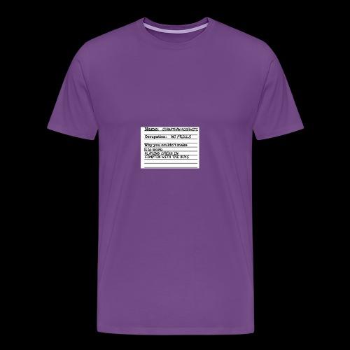 Jonathan Roshwitz Occupation - Men's Premium T-Shirt