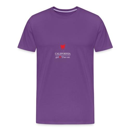 This girl love her cat T-Shirt - Men's Premium T-Shirt