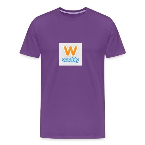 weebly logo - Men's Premium T-Shirt