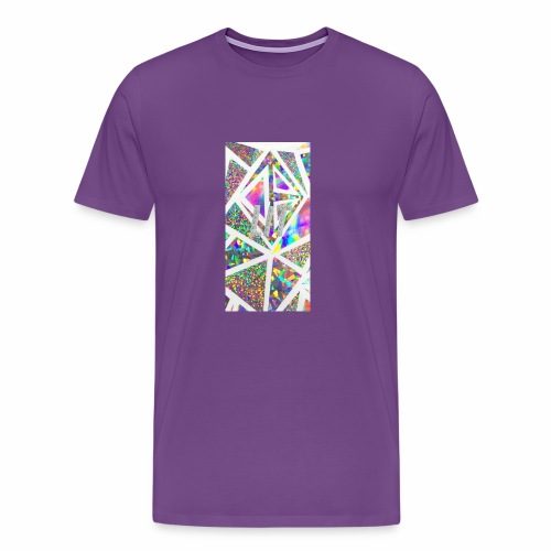 Holographic 'Lit' Design - Men's Premium T-Shirt