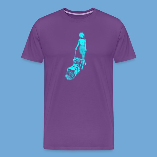 Roto-Hoe Cyan. - Men's Premium T-Shirt