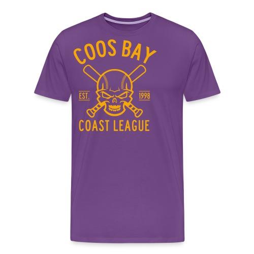 Coos Bay Coast League 1-color Gold - Men's Premium T-Shirt