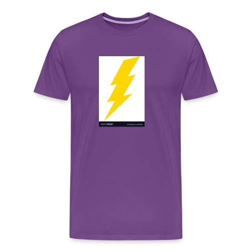 electric lightning bolt vector 15779011 - Men's Premium T-Shirt