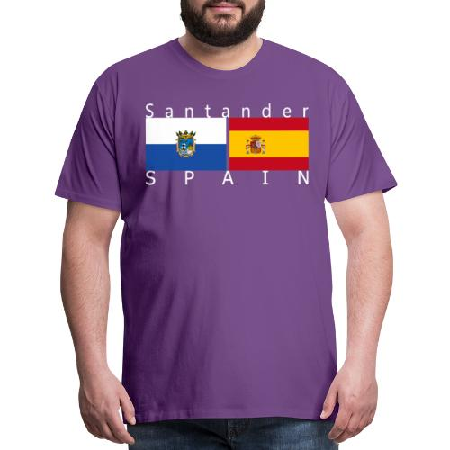 Flags of Santander & Spain - Men's Premium T-Shirt