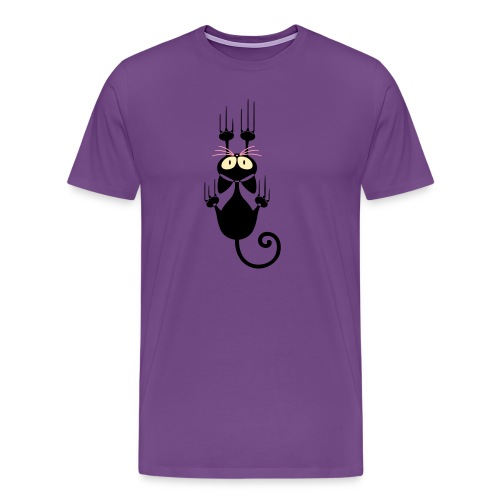 Funny Pets - Scratching Cat - Men's Premium T-Shirt