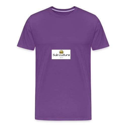 Sub-culture burger logo - Men's Premium T-Shirt