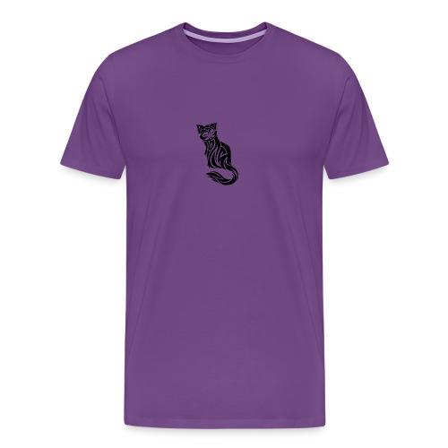 elegant-cat-with-bird-tattoo-design-5 - Men's Premium T-Shirt