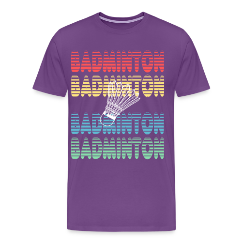 badminton sport player gift birthday items - Men's Premium T-Shirt