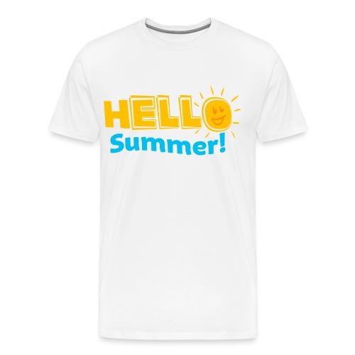 Kreative In Kinder Hello Summer! - Men's Premium T-Shirt
