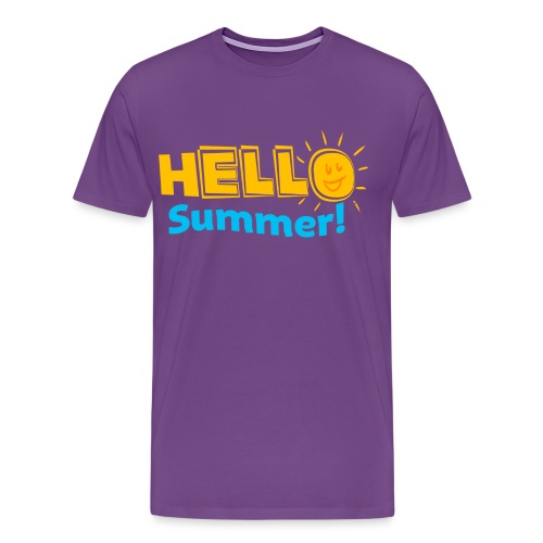 Kreative In Kinder Hello Summer! - Men's Premium T-Shirt