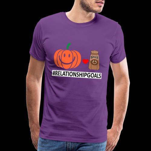 Relationship Goals | Caffeinated Love - Men's Premium T-Shirt