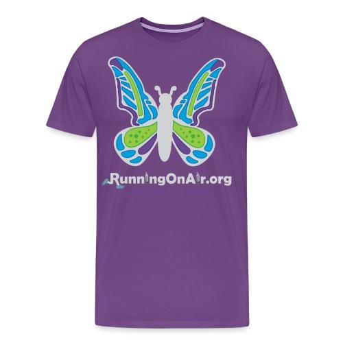 Running On Air logo for dark colored shirts - Men's Premium T-Shirt