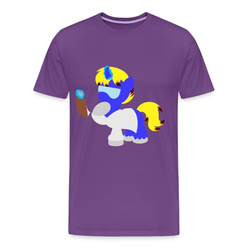 Science Pony Silhouette - Men's Premium T-Shirt